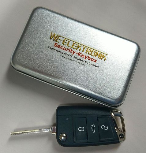 WE-Security-Keybox - Keyless Go - Version Aktiv-Transponder (starrer Schlüssel)